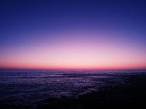 反対色の入った夕日って?!