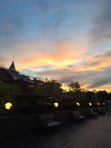 夕陽に見惚れて。