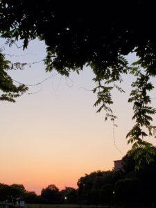 日没前のグラデーション